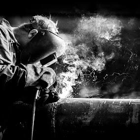 The Welder by Kevin Standage - Professional People Factory Workers