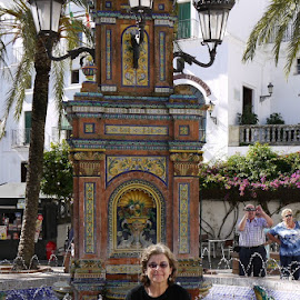 Spanish fountain by Gay Reilly - Novices Only Portraits & People
