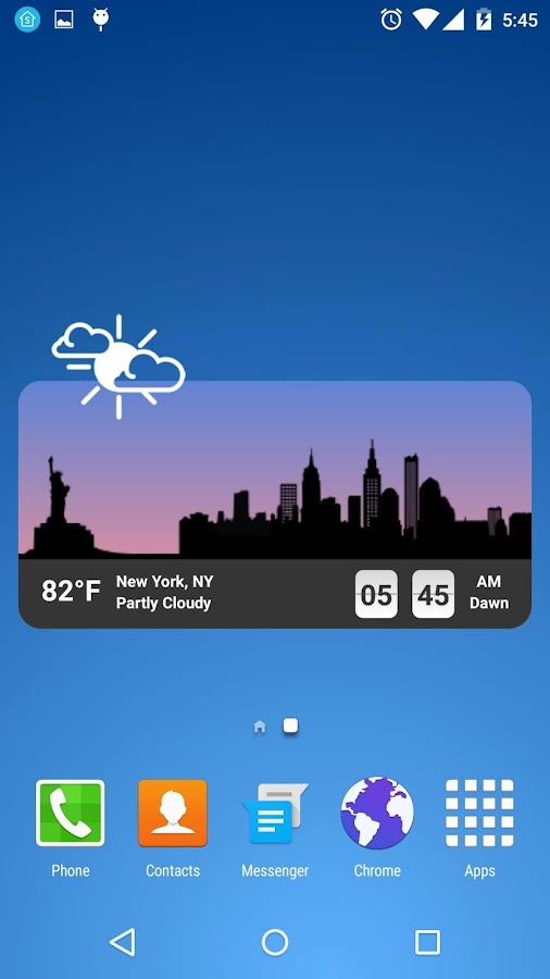 Metro Clock Widget Screenshot 0