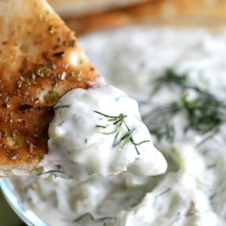 Greek Tzatziki (Yogurt Cucumber Dip) Recipe   Yummly