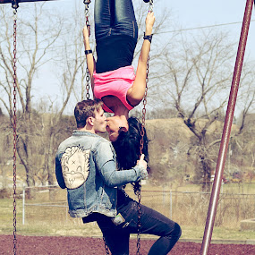 A&D by Autumn Horton - People Couples ( love, fashion, drop dead, swings, dropdead, couple, adorable, cute, engagement )