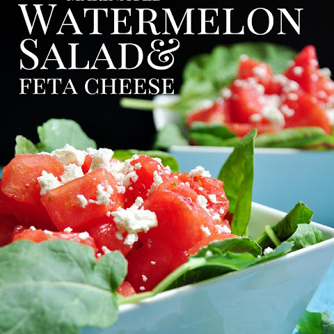 Marinated Watermelon Salad With Feta Cheese