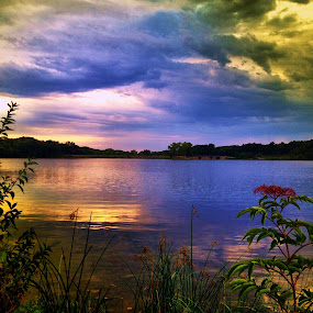 by Lori Taylor - Instagram & Mobile iPhone ( clouds, water, nature, lake )