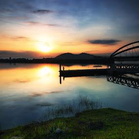 Morning in Putrajaya by Darmal Ali - City,  Street & Park  Vistas ( amlbuton, sunrise, nikon, landscape )