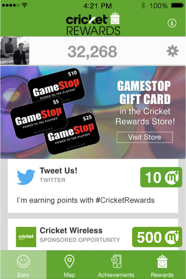 Cricket Rewards Screenshot