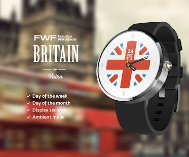 Britain Flag Watch Face FWF