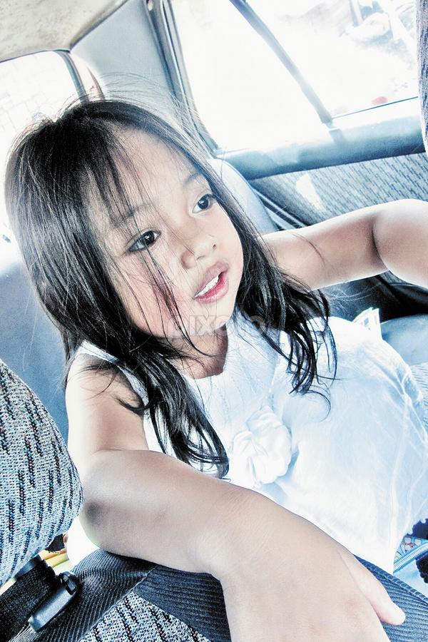 gianna in the car by Ateddi S - Babies & Children Children Candids