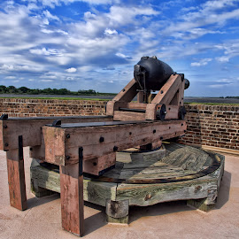 2013-P4217484 by Ross Boyd - Landscapes Travel ( s.c, blue skies, travel, historical, historicalcivil war, cannon,  )