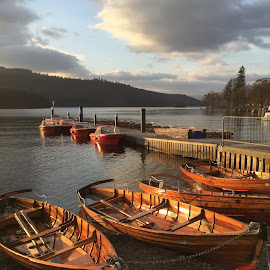 Wooden Boats by Dilys Thompson - Transportation Boats