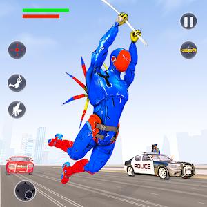 Flying Robot Rope Hero - Vegas Crime City Gangster For PC (Windows & MAC)