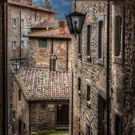 Down the streets of Cortona by Krasimir Lazarov - City,  Street & Park  Street Scenes ( old, city scene, old town, old city, tourism, cityscape, architecture, old building, city, travel location, buildings, streets, historical, cortona, italy, city street )