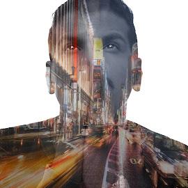 Imagination by Jimmy Ab - Digital Art People ( combine, men, people, photography, portrait )