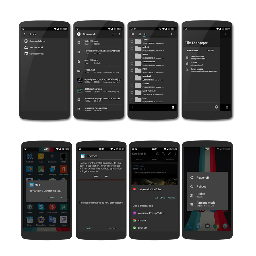 AOSP Dark Material CM13 THEME Screenshot 10