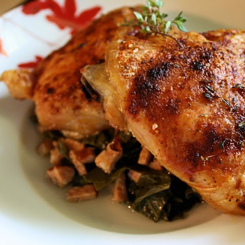 Roasted Chicken With Turnip Greens