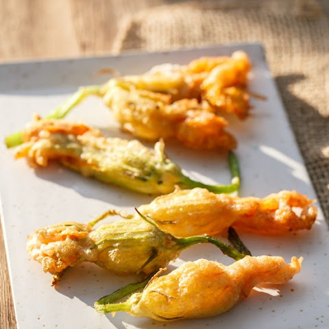 Goat Cheese-Stuffed Fried Zucchini Blossoms