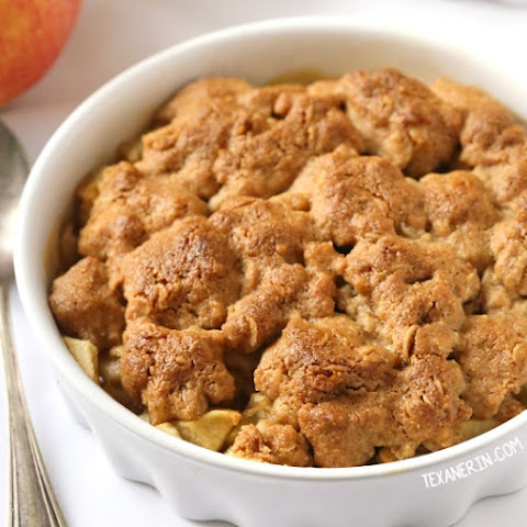 Peanut Butter Apple Crumble (gluten-free, vegan, dairy-free, 100% whole grain)