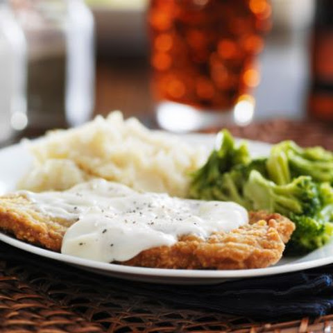 Fried Steak With Mashed Potatoes