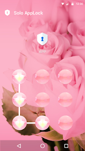 Pink Flowers AppLock Theme - screenshot
