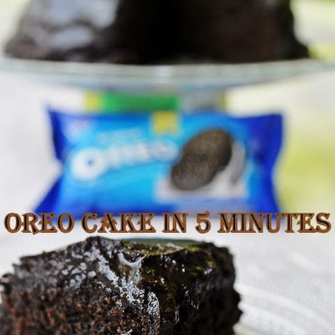OREO CAKE IN 5 MINUTES WITH CHOCOLATE GANACHE FROSTING/ 4 INGREDIENT OREO MICROWAVE CAKE