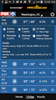 Screenshot of FOX 5 Weather