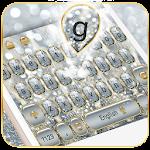 Luxury Silver Glitter Keyboard Icon