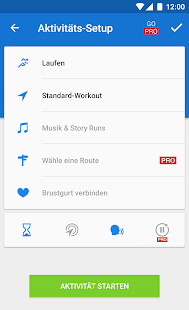 Runtastic Laufen & Fitness Screenshot