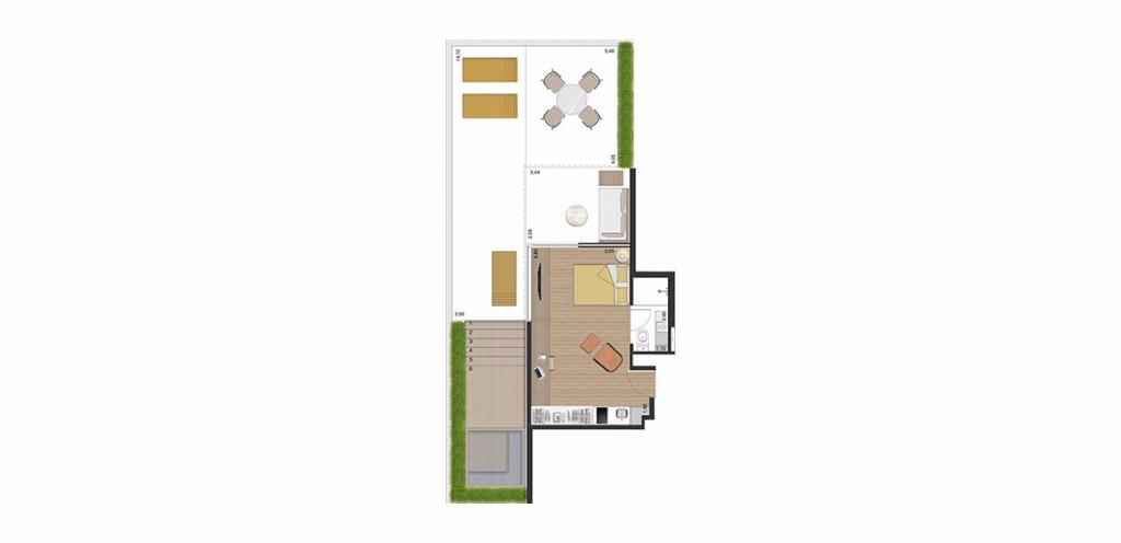 Garden Tipo 6 -  91 m²