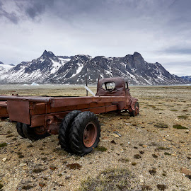 Bluie East 2 by Fokion Zissiadis - Transportation Automobiles ( iceberg, nature, icefjord, greenland, arctic, landscape, abandoned )