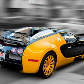 Yellow Car by Ruben Garcia Villamil - Transportation Automobiles