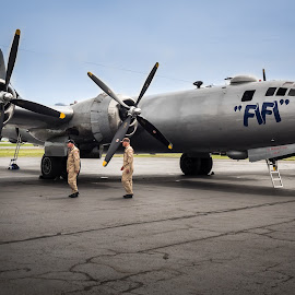 Fifi and Crew by Ron DiLaurenzio - Transportation Airplanes ( airport, b29, airplane, boeing, military )