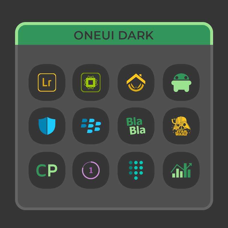 OneUI Dark- Icon Pack Screenshot 1