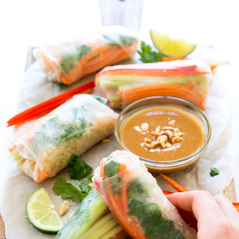 Shrimp Quinoa Vegetable Spring Rolls