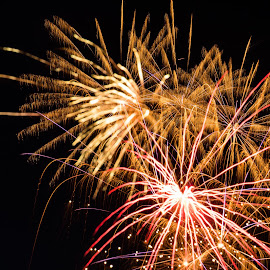 by Joe Permenter - Public Holidays July 4th ( holiday, outdoors, fireworks, 4th of july, celebration, independance day )