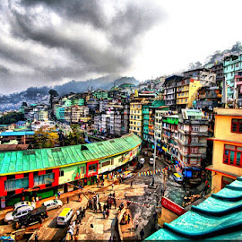 City Gangtok by Biman Sarkar - Landscapes Travel ( building, colors, gangtok, sikkim,  )