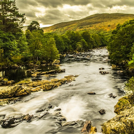 Little Garve & the Blackwater. by Peter Bartlett - Landscapes Mountains & Hills ( scotland, blackwater, landscape, little garve )