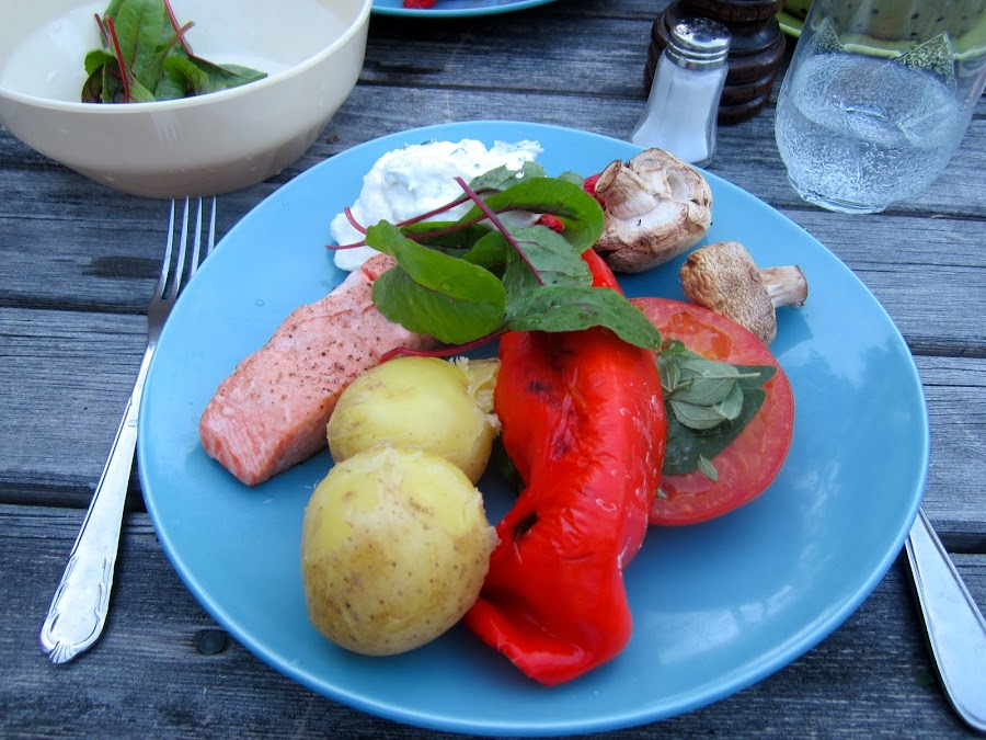 Grilled Salmon by Viive Selg - Food & Drink Plated Food