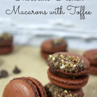 Chocolate French Macaron Recipe with Toffee