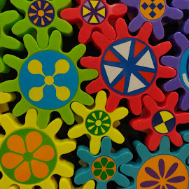 Toy gears by Ada Irizarry-Montalvo - Abstract Patterns (  )