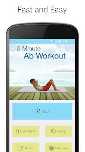 5 Minute Ab Workouts Fitness app screenshot 1 for Android
