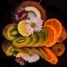 citrus with flowers by LADOCKi Elvira - Food & Drink Fruits & Vegetables