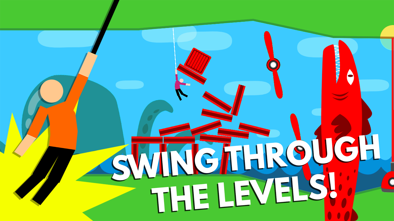 Как в happy wheels сделать rope swing