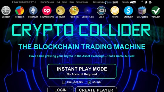 Crypto Collider Bitcoin Game - screenshot