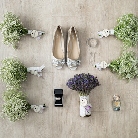 Brides Things by Riaan Roux - Wedding Details ( shoes, ring, bouquet, perfume )