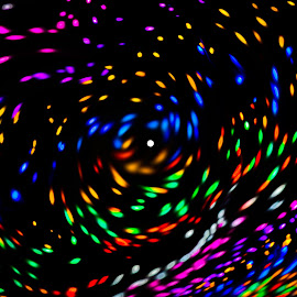 White Dot by Dave Lipchen - Abstract Light Painting ( abstract art, white dot )