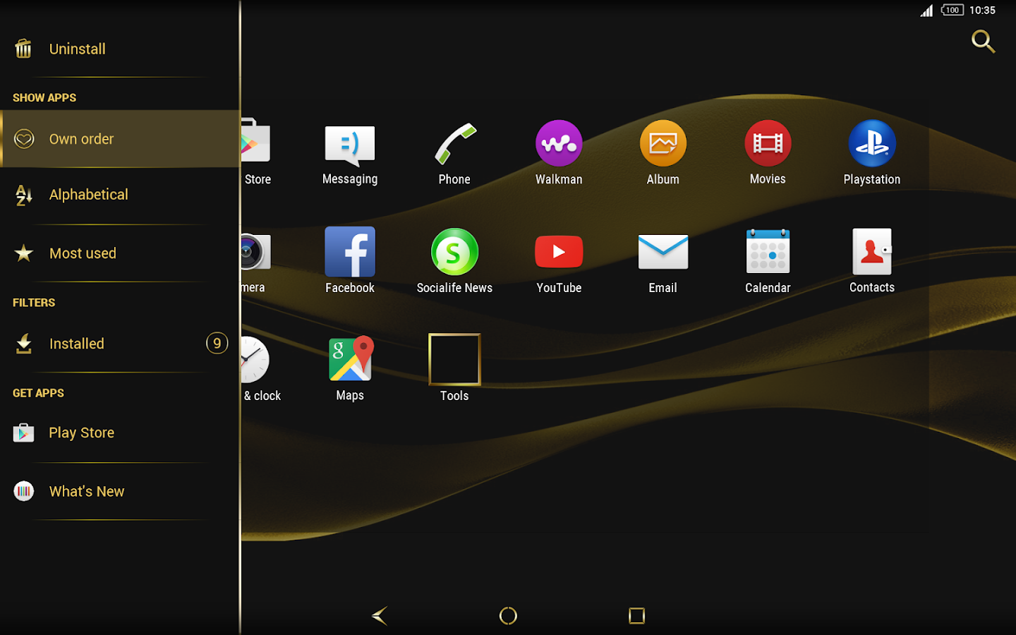 Black & Gold Theme for Xperia Screenshot 11