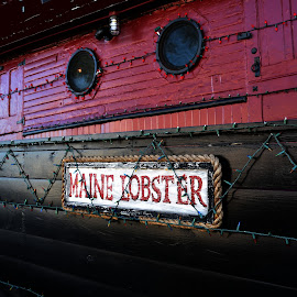 Maine Lobster  by Lorraine D.  Heaney - Artistic Objects Signs