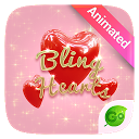 Bling Hearts GO Keyboard Animated Theme 4.5 APK Download