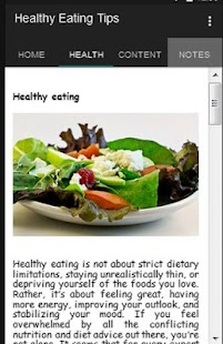 Healthy Eating Tips - screenshot