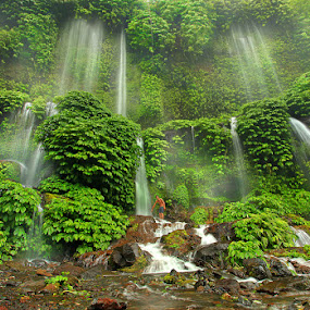 Waterfall valance threads by Adhii Motorku - Landscapes Mountains & Hills