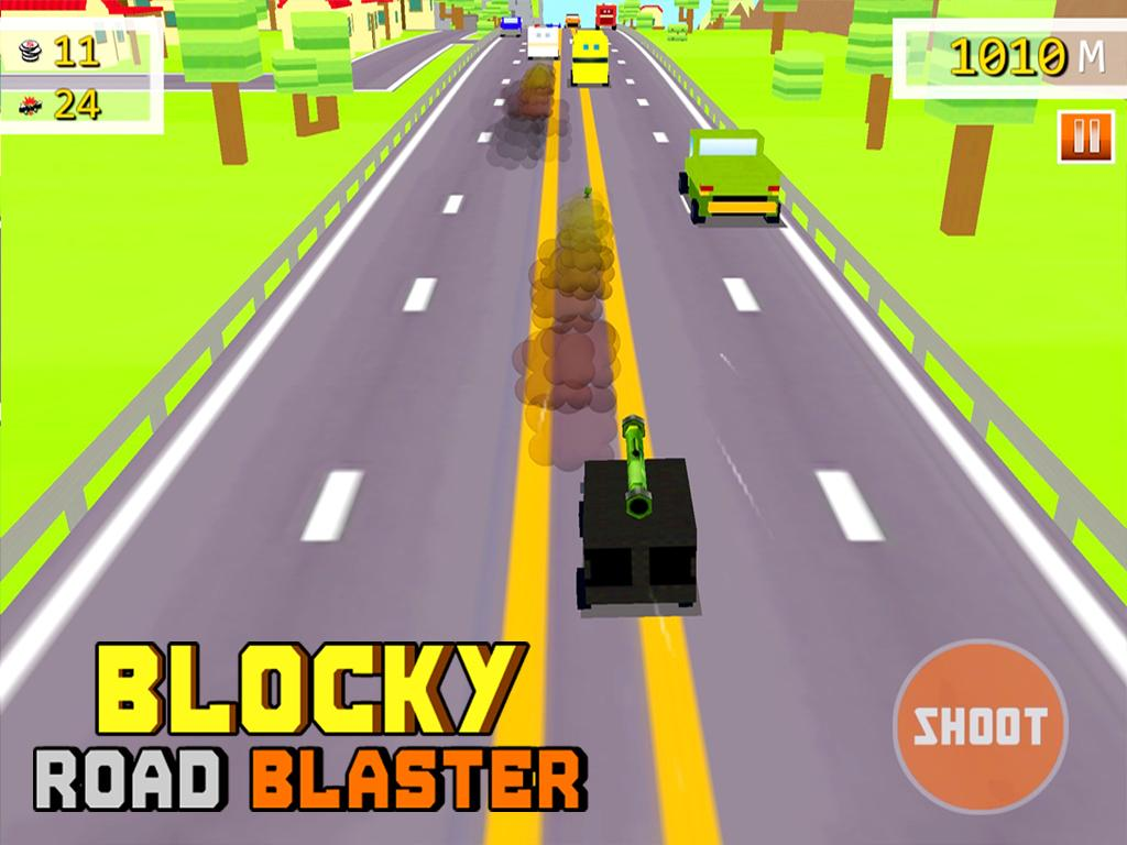 Blocky Road Blaster -Wild Race Screenshot 12